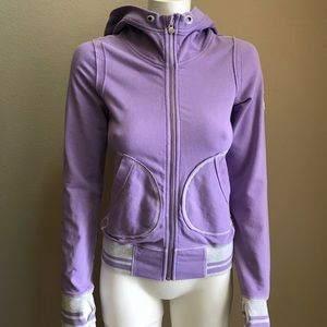 Lululemon purple scuba zip down hoodie 2